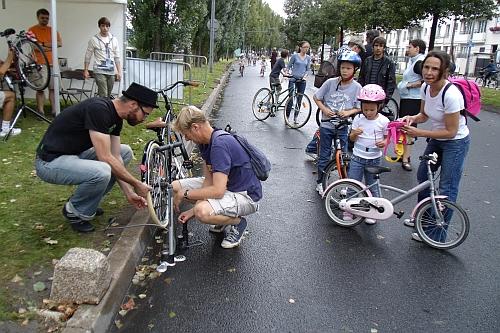 Gonflage des vélos qui passent