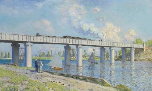 Argenteuil : berges de Seine vues par Monet