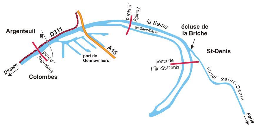 Boucle de la Seine de St-Denis à Argenteuil